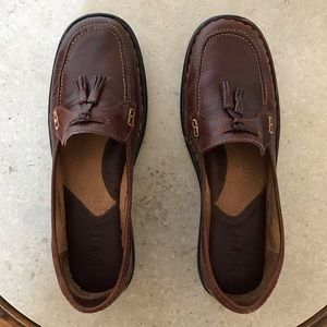 Born Womens Brown Loafers with Tassels SZ 9 1/2